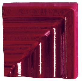 Tonalite Diamante Bordeaux Angolo Specchio Bordo 8x8 см