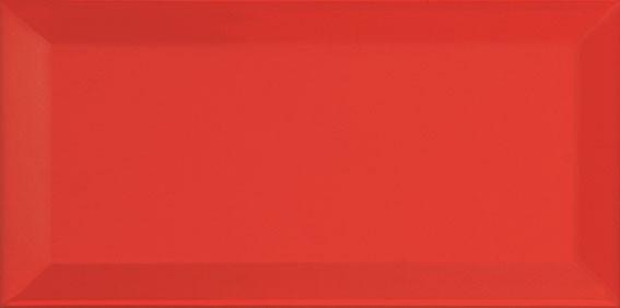 Ape Metro Rojo Biselado Brillo 10x20 см